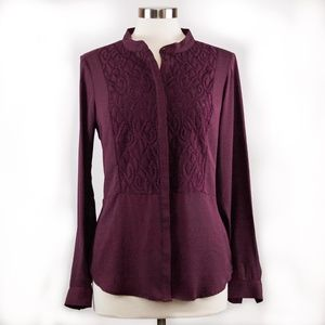VERA WANG long sleeves blouse, size M color wine